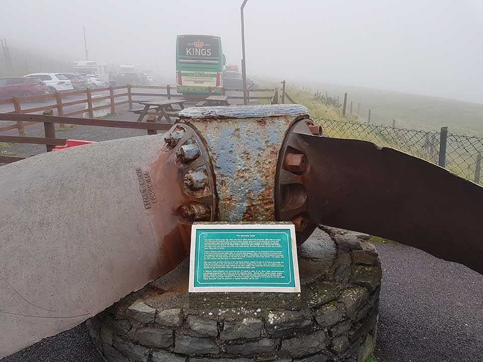 KC14 ABC in the mist at Mizen Head on the Kings Coaches Irish tour